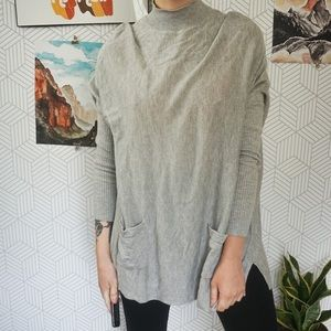 Romeo and Juliet Couture Grey tunic sweater
